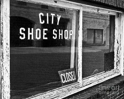 Shoe Repair Photograph - City Shoe Shop 2 by Patrick M Lynch