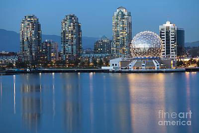 Photograph - City Skyline -vancouver B.c. by Bryan Mullennix