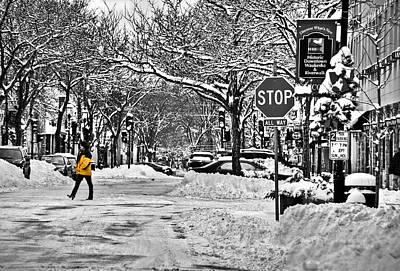 City Snowstorm Art Print by Deborah Klubertanz