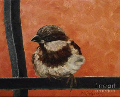 Painting - City Sparrow by Michelle Welles