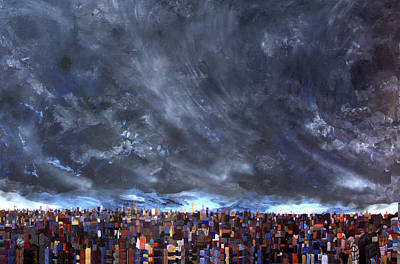 Painting - City Storm I by Robert Handler