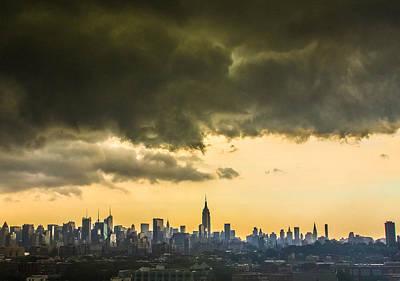 City Storm Wide Art Print