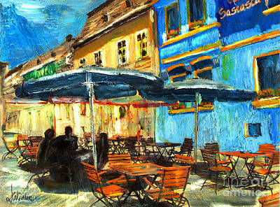Painting - City Street Cafe by Daliana Pacuraru