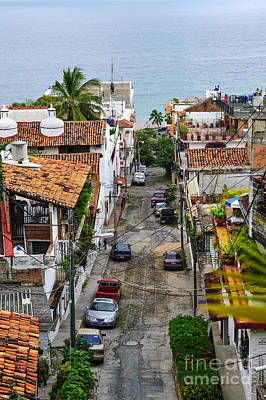 Photograph - City Street In Puerto Vallarta by Elena Elisseeva