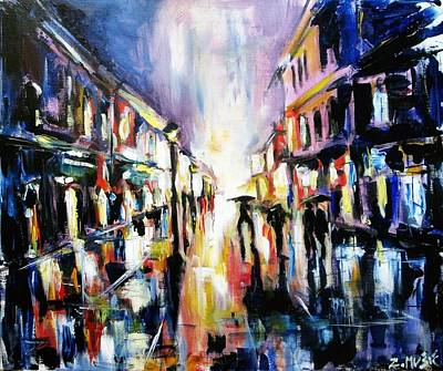 City Street In Rain Original by Zlatko Music
