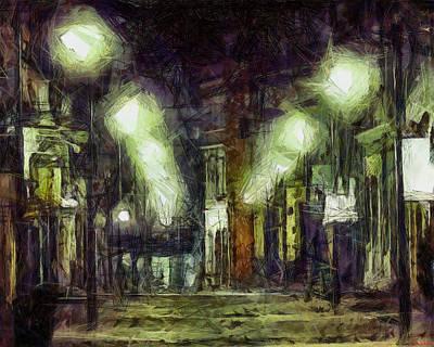 Art Print featuring the drawing City Street by Joe Misrasi