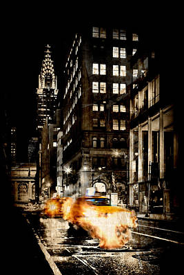 Bellows Digital Art - City Streets  by Az Jackson