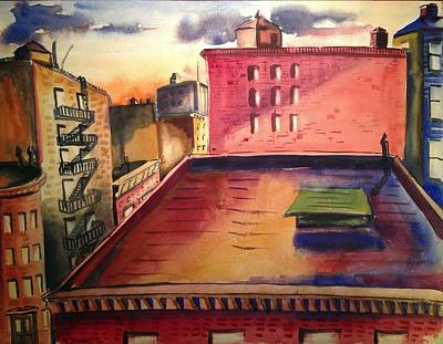 City Sunset Art Print by Maxwell Mandell