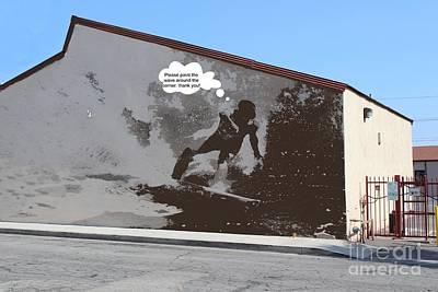 Caption Digital Art - City Surfin Street Art by RJ Aguilar