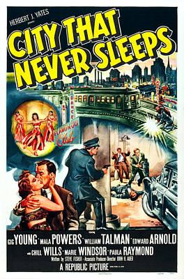 City That Never Sleeps, 1953 Print by Everett