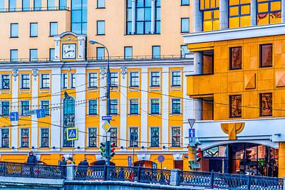 Illuminated Wall Decorations Photograph - City Time by Alexander Senin