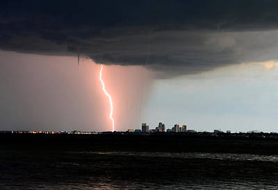 Waterspout Photograph - City Under Attack Close Up by David Lee Thompson