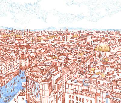 City. Vienna Print by Olga Sorokina