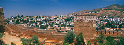 Alhambra Photograph - City View From The Fort, Alhambra Fort by Panoramic Images