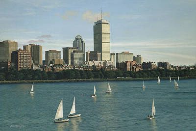 City View Sail Art Print by Julia O'Malley-Keyes