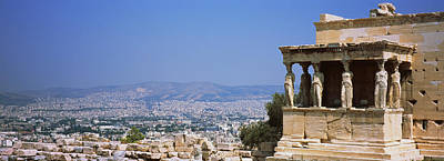 Ancient Civilization Photograph - City Viewed From A Temple, Erechtheion by Panoramic Images