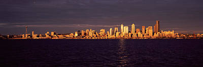 City Viewed From Alki Beach, Seattle Art Print