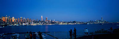 Medium Blue Photograph - City Viewed From Hamilton Park, New by Panoramic Images