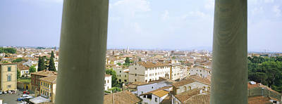 Leaning Building Photograph - City Viewed From The Leaning Tower Of by Panoramic Images