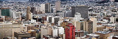 City Viewed From The Nob Hill, San Art Print by Panoramic Images