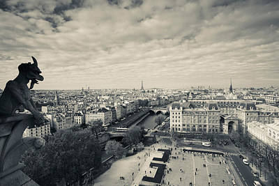 City Viewed From The Notre Dame Art Print by Panoramic Images