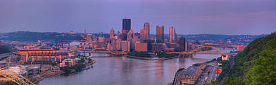 Allegheny County Photograph - City Viewed From The West End by Panoramic Images