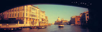 Domes Of Venice Photograph - City Viewed Through A Bridge, Ponte by Panoramic Images