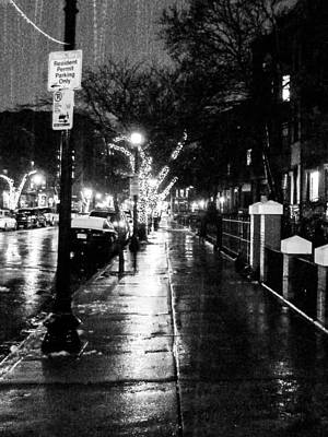City Walk In The Rain Art Print by Mike Ste Marie