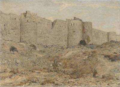 Marius Drawing - City Wall In India, Marius Bauer by Litz Collection