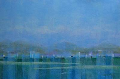 Painting - City Water Collage by Jamie Frier