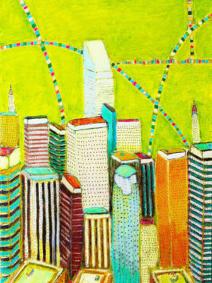 Painting - City With Green by Habib Ayat