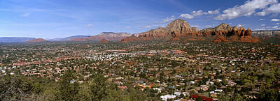 Cathedral Rock Photograph - City With Rock Formations by Panoramic Images