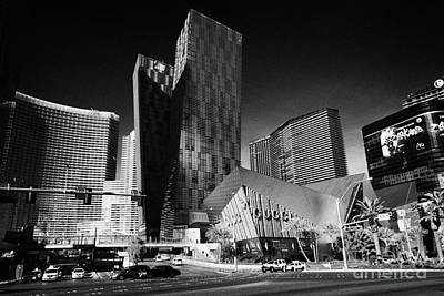 Veer Photograph - citycenter development including the aria veer towers and cosmopolitan Las Vegas Nevada USA by Joe Fox