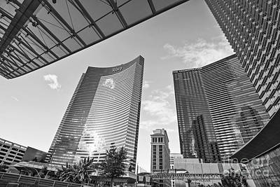 Wide Angled Glass Mirror Photograph - Citycenter - View Of The Vdara Hotel And Spa Located In Citycenter In Las Vegas  by Jamie Pham