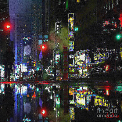 Citylife Digital Art - Citylights by Ha Imako