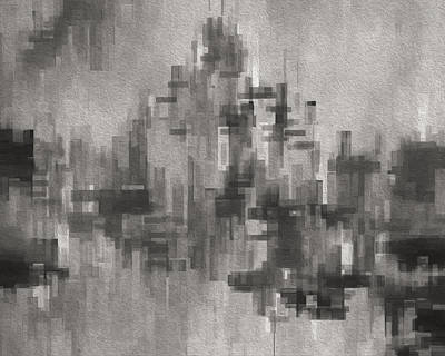 Digital Altered Digital Art - Cityscape 3 by Jack Zulli