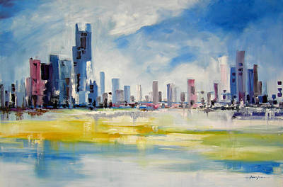 Painting - Cityscape by Ahmed Amir