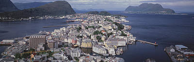 Norway Photograph - Cityscape Alesund Norway by Panoramic Images