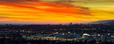 Sunset Studios Photograph - Cityscape At Dusk, Sony Studios, Culver by Panoramic Images
