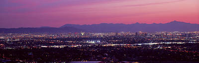 Cityscape At Sunset, Phoenix, Maricopa Print by Panoramic Images