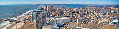 Cityscape, Atlantic City, New Jersey Art Print by Panoramic Images