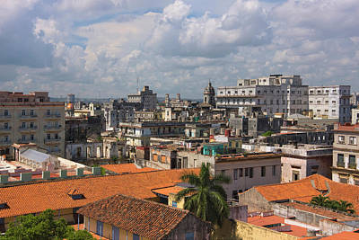 Red Roof Photograph - Cityscape, Havana, Unesco World by Keren Su