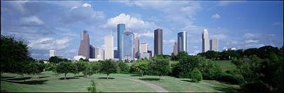 Public Park Photograph - Cityscape, Houston, Tx by Panoramic Images