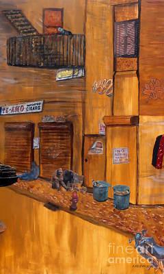 Ghetto Mixed Media - Cityscape II by Aurorah Kelevh-Beard