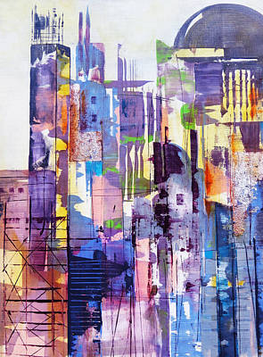 Painting - Cityscape by Katie Black