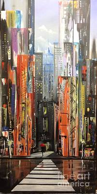Hong Kong Painting - Cityscape Ll by Jose Luis Reyes