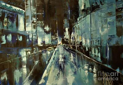 Art Print featuring the painting Cityscape by Maja Sokolowska