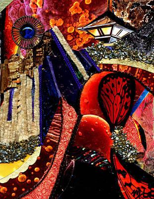 Decoupage Mixed Media - Cityscape by Melanie Hudson