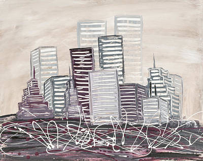 Giclee Mixed Media - Cityscape by Melissa Smith