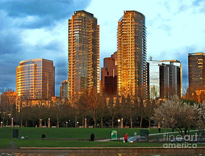 Photograph - Cityscape Of Bellevue Washington Art Prints by Valerie Garner